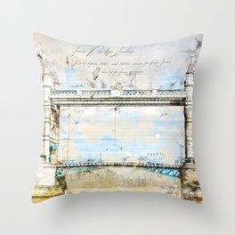 Tower Bridge, London England Throw Pillow