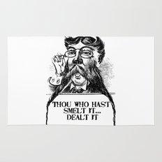 Vintage Thou who hast smelt it, dealt it  Rug
