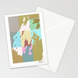 Nuuk, Greenland, city map Stationery Cards