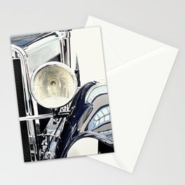 Blue classic vintage car Stationery Cards