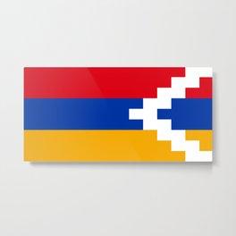 Nagorno-Karabakh Flag Metal Print