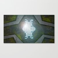 shadow of the colossus Canvas Prints featuring Shadow Of The Colossus by KeenaKorn