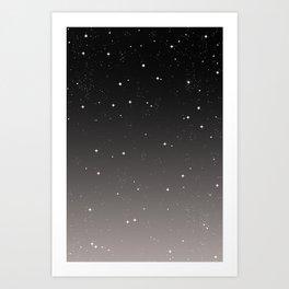 Keep On Shining - Starry Sky Art Print