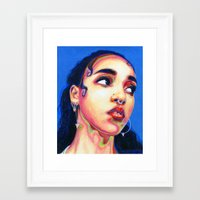 fka twigs Framed Art Prints featuring Fka Twigs by Passion for Pencils