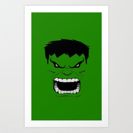 Minimalist Hulk Art Print