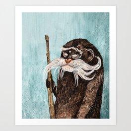 Emperor Tamarin Monkey Art Print