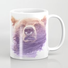 BEAR SUPERIMPOSED WATERCOLOR Coffee Mug