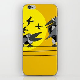 Funny bird iPhone Skin