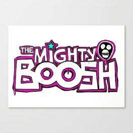 Mighty Boosh Logo, Colourful, Funky, Funny Canvas Print