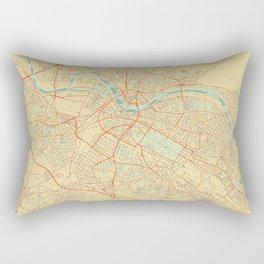 Dresden Map Retro Rectangular Pillow
