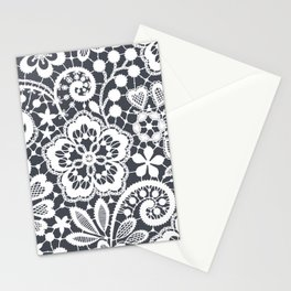 White Lace. Seamless Pattern. Stationery Cards