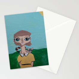~Ring-Tailed Cat ~ 10 Year Old Amelia's Arizona Critter Girl Stationery Cards