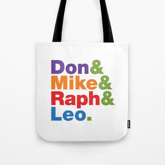 Don & Mike & Raph & Leo. Tote Bag