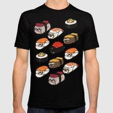 Sushi Sloth Mens Fitted Tee Black MEDIUM