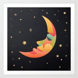 Imaginative Moon Art Print