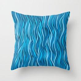 Blue wind Throw Pillow