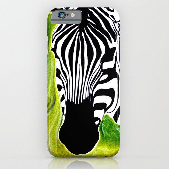 Green Black and White Zebra iPhone & iPod Case