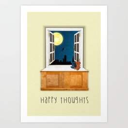 Happy Thoughts - Hook Art Print