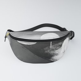 Abstract Flowers. Black and White. Flowers. Mountains. Landscape Fanny Pack