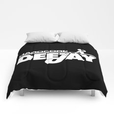 Hardcore DeeJay Music Quote Comforters