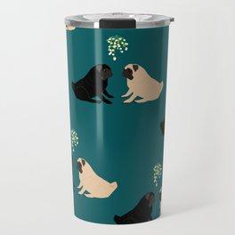 Christmas Pug Love Travel Mug