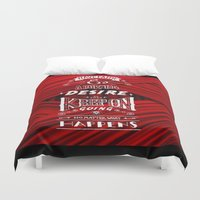 motivational Duvet Covers featuring Have Faith... Motivational quote by AnnaF31