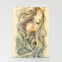 sleeping beauty Stationery Cards featuring Sleeping Beauty by Azrhon