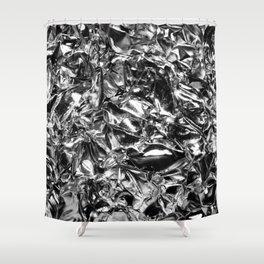 Striking Silver Shower Curtain