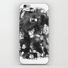 Black art iPhone Skin