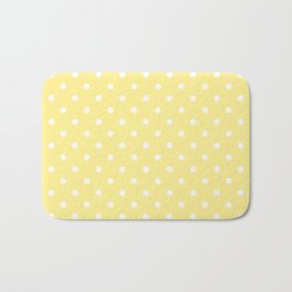 Buttermilk Yellow with White Polka Dots Bath Mat