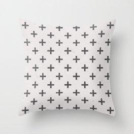 Stone Cross Pattern Throw Pillow