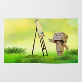 Danbo the artist Rug