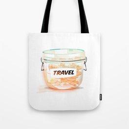 Travel Coin Jar Tote Bag