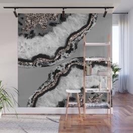Yin Yang Agate Glitter Glam #9 #gem #decor #art #society6 Wall Mural