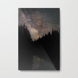 Milky Way at Little Crater Lake Metal Print