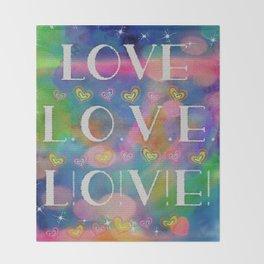 Love L.o.v.e. L!o!v!e! Throw Blanket