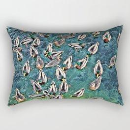 Duck Swarm Rectangular Pillow