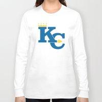 kansas city Long Sleeve T-shirts featuring Kansas City Sports Blue by Haley Jo Phoenix