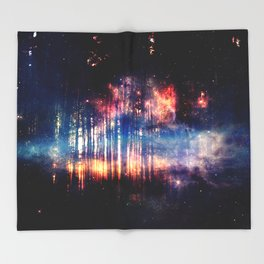 Alone in the forest Throw Blanket
