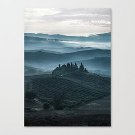 One cold day in Toscany Canvas Print