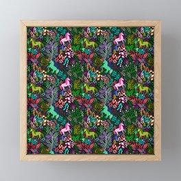 Magical Rainbow Unicorn Forest Framed Mini Art Print