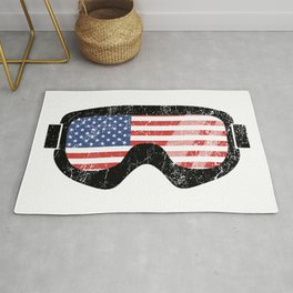 American Goggles - Distressed Black | Goggle Designs | DopeyArt Rug