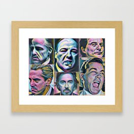 Gangsters painting movie Goodfellas Godfather Casino Scarface Sopranos Framed Art Print