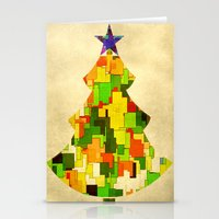 christmas tree Stationery Cards featuring Christmas tree by SensualPatterns