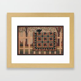 Cherries and Pinwheels Framed Art Print