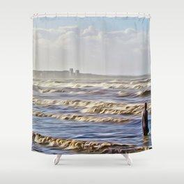 Stormy Day (Digital Art) Shower Curtain