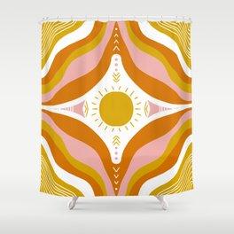 sunshine mandala Shower Curtain