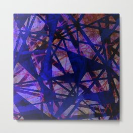 Fading Ley Lines (blue colourway) Metal Print