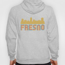 Vintage Style Fresno California Skyline Hoody