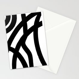 Abstract Black Lines Stationery Cards
